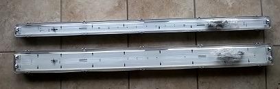 Dobbeltarmatur til LED rør 120 cm