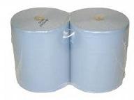 Blå aftørringspapir 2 rl. 37 cm bred, 2 lag